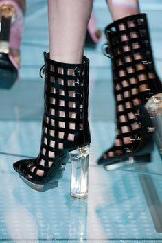 Shoes from Versace Spring/Summer 2015.  Milan Fashion Week.
