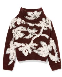 Brunello Cucinelli Floral-Embroidered Cropped Cashmere Sweater