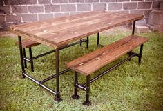 6ft Industrial style Farmhouse Table by EmmorWorks on Etsy
