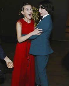 Millie Bobby Brown & Finn Wolfhard at the SAG Awards