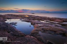 Rödhäll Sunset by MagnusL3D  nature nordic ocean outdoor rock sea stone sunset sverige sweden Rödhäll Sunset MagnusL3D