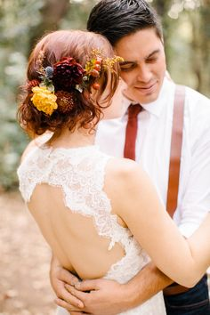 - I like the updo hairstyle - maybe with Wildflowers - love the open back