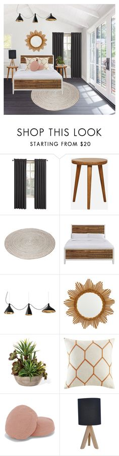 """Bedroom"" by laurarico ❤ liked on Polyvore featuring interior, interiors, interior design, home, home decor, interior decorating, Sun Zero, Madison Park and bedroom"