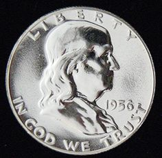 1956 50C Silver Proof Franklin Half Dollar Proof Coins, Rare Coins, Half Dollar, Liberty, Walking, Silver, Political Freedom, Freedom, Walks