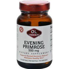 Olympian Labs Evening Primrose Oil - 500 Mg - 90 Softgels Essential Oil Menstrual Cramps, Remedies For Menstrual Cramps, Cramp Remedies, Essential Fatty Acids, Essential Oils, Evening Primrose Oil Benefits, Arthritis Symptoms, Hormone Balancing, Menstrual Cycle