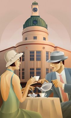 christinerod:  Art Deco  Art Deco Napier New Zealand by Stephen Fuller