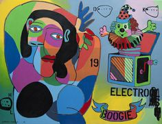Johnny Romeo Ditty, Kitty School - 2013 Acrylic and oil on canvas 150 x 200 cm School 2013, Dream Art, New Words, Surrealism, Oil On Canvas, Disney Characters, Fictional Characters, Snow White, Artsy