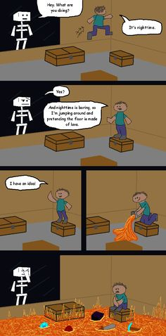 Funny / Awesome MineCraft Webcomics and Memes - Alpha - Survival Single Player - Alpha - Archive - Minecraft Forum Minecraft Jokes, Minecraft Comics, Cool Minecraft, How To Play Minecraft, Minecraft Crafts, Minecraft Designs, Minecraft Party, Minecraft Secrets, Minecraft Download