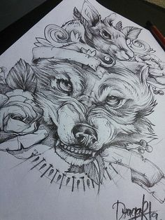 snarling wolf | seriously considering this