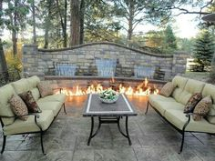 Fire pit water fall