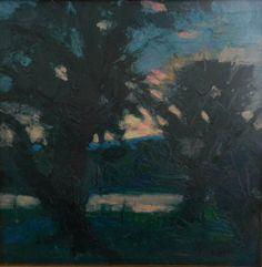 Along the Schuylkill 16x16 oil on canvas, Al Gury artist
