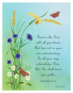 Proverbs 3: 5-6 Bible verse of Wisdom