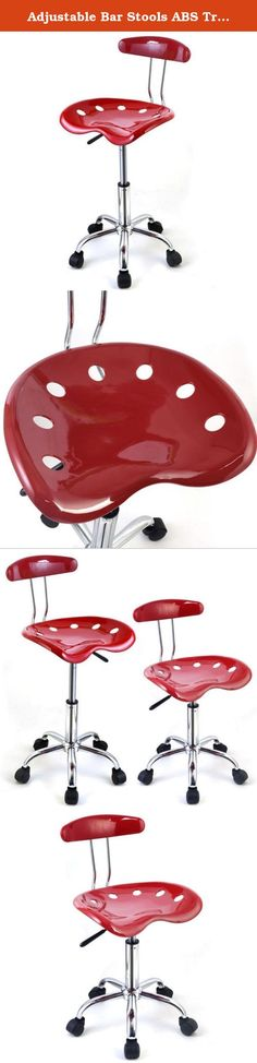 Adjustable Bar Stools ABS Tractor Seat Swivel Kitchen Chrome Drafting Modern Chair 1PC Breakfast Red. Product Description This Is Our Bar Stools,Which Is Of Molded ABS Tractor Seat Offers Great Comfort. It Is Ideal For Used In The Home Or Office. Hydraulic Design Is Convenient To Adjust The Height For Better Suitable Position. Feature - Brand New And Good Quality. - High Gloss ABS Plastic Seat - Unique Molded ABS Tractor Seat Design - 5 Wheels For Easy Movement - 360 Degree Swivel…