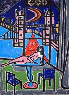 'summer night london' 2015 #derekgaruboartist insta/fb derekgarubo.com :-)