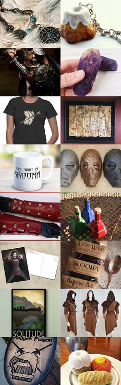 Gifts for Skyrim Enthusiasts by Ashley Olsen on Etsy--Pinned+with+TreasuryPin.com