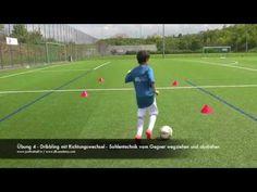 Technik - Ballführung/ -kontrolle - Dribbling mit Richtungswechsel - YouTube