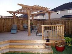 Can you build a deck against a fence - Google Search