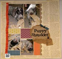 Puppy Scrapbook page