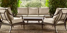 Potential outdoor furniture Restoration Hardware: Antibes Painted Metal Bronze | Restoration Hardware