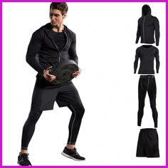 Vansydical New Men Compression Sport Suits Tights Skins Base Layers Basketball Shirts Pants For Gym Fitness Running Sets – Direct Factory Price Store Basketball Shirts, Basketball Compression Pants, Adidas Basketball Shoes, Basketball Players, Basketball Outfits, Basketball Court, Tailor Made Suits, Popular Sports, Gym Fitness