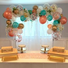 Make your party shimmer with Rose Gold Pearl Balloons! Featuring a pearl finish, these rose gold latex balloons add a touch of elegance to any party room. Balloon Arch Diy, Balloon Columns, Balloon Garland, Balloon Backdrop, Balloon Ideas, Graduation Balloons, Birthday Balloons, Party City Balloons, Girl Birthday Decorations