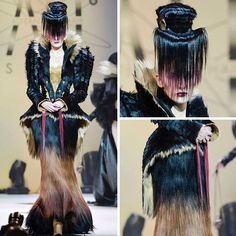 HAIR DRESS  by the always fascinating @robertmasciave for his awesome @alternativehairshow presentation  Photos by @barronhough #esteticalikes #hairdress #hairinspo #hairart #hairfashion