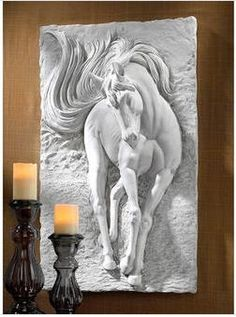Design Toscano Equine Grandeur Horse Wall Sculpture, Stone, Off White for sale online Horse Sculpture, Wall Sculptures, Plaster Art, Paperclay, Faux Stone, Equine Art, Horse Art, Three Dimensional, Decoration