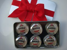 Adorable set of 6 glass sock monkey glass magnets. Perfect for teacher gift or co worker/friend. Christmas gift!