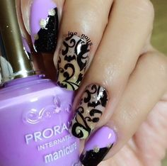Bunny nails plate design