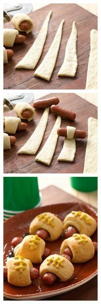 Pigskins in a Blanket (crescent dog footballs) are perfect game-day snacks!