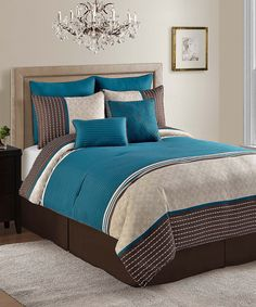 Look at this Aqua Seville Comforter Set on #zulily today!