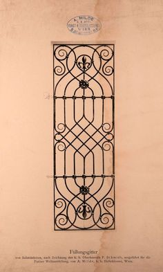 Can I paint this on a fence or wall? Door Gate Design, Railing Design, Window Grill Design, Iron Windows, Wrought Iron Doors, Iron Furniture, Iron Art, Metal Art, Decoration