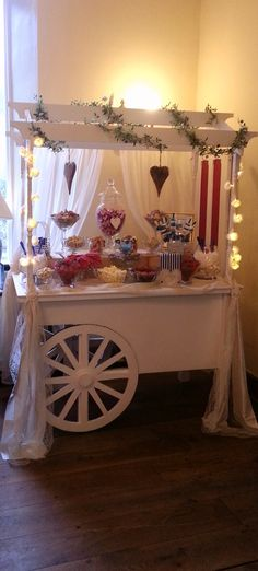 Craig y Nos Candy Cart Wedding Sweet Cart, Event Ideas, Party Ideas, Chocolate Flowers Bouquet, Sweet Carts, Sweet Trees, Candy Cart, Tea Cart, Candy Floss
