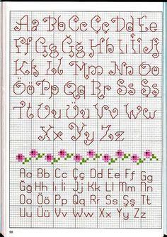 Dos Abecedarios muy bonitos  - Acomodados estilo Mestrario sencillo -  Gallery.ru / Фото #54 - Вышиваем крестом цветы, букеты, деревья - tymannost