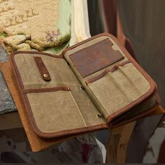The JOURNEY Organizer makes travelling and checking into your hotel so much easier and quicker. Check out more beautiful leather. Groomsmen Gifts Unique, Groomsman Gifts, Passport Wallet, Passport Cover, Man Clutch, Name Card Holder, Handmade Leather Wallet, Waxed Canvas, Travel Gifts