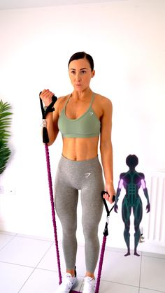 Band Workout, Gym Workout Videos, Gym Workout For Beginners, Pilates Workout, Gym Workouts, Exercise, Bicep Workout Women, Fitness Workout For Women, Biceps Workout At Home
