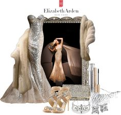 """""""A Glimpse of Gold with Elizabeth Arden"""" by deborah-simmons on Polyvore"""
