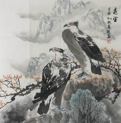 Eagle: Artist: Zhenke Zhao, pen name: Chenhe, 1956~, born in Shandong Province, China
