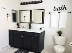 """37 Likes, 2 Comments - Britt💗🌿HomeDecor🌿DIY🌿Coffee🌿 (@amelialane_) on Instagram: """"Happy Wednesday friends! Just wanted to share with y'all our amazing master bath transformation! My…"""""""