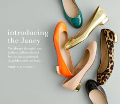 J. Crew Janey patent flats. I want one.. But what color?