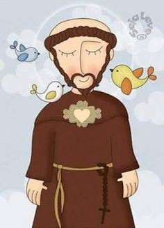 Francis of Assisi Ste Claire, St Francisco, St Clare's, Francis Of Assisi, Arte Popular, Catholic Saints, Sacred Art, Religious Art, Christianity
