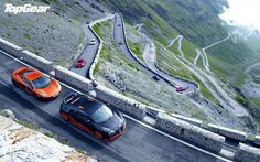 The Best Road Trips Ever Taken by the 'Top Gear' Trio: Watch these to prepare yourself for 'The Grand Tour. Gear S, Top Gear, Pass Photo, Widescreen Wallpaper, Grand Tour, Amazing Cars, Alps, Places To See, Super Cars