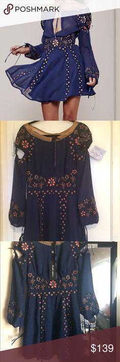 For Love and Lemons Niccola blue dress New with tag.  NO TRADE For Love and Lemons Dresses