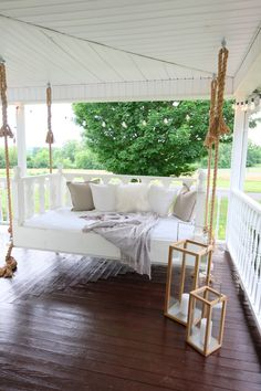 Pergola Plans Videos On Deck - Metal Garden Pergola Ideas Videos - Black Pergola Curtains - Porch Bed, Porch Swing, Swing Beds, Pergola Swing, Pergola Patio, Outdoor Rooms, Outdoor Living, Outdoor Decor, Pergola Designs