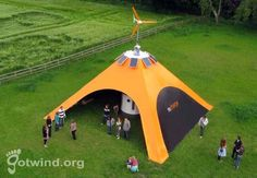 Orange Recharge Pod Solar Tent | Outdoor Picnic Ideas by Pioneer Settler at http://pioneersettler.com/solar-powered-tent-list/