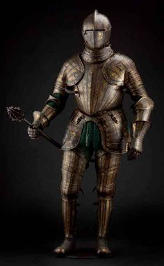 Stylish knightwear - the Pompeo della Chiesasuit of armour