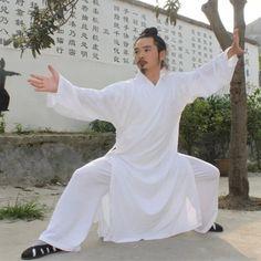 d4305c23b Custom High grade white black Tai chi Uniform Wudang Taoist Robe Shaolin  Monk Suit Martial arts