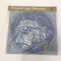 Stiebel of Nottingham Pictorial Lace Souvenir Nottingham Castle 100% Polyester by KoolKoolThangs on Etsy