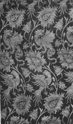 """""""Basilisk"""" around 1310 - 1340 - original. We can weave it for you! Visit http://www.sartor.cz/content/8-fabric-on-demand-catalogue"""