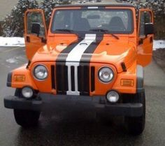 Jeep Wrangler - NFL Cleveland Browns Who's your favorite NFL team? Jeeps make the perfect football helmet.